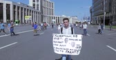 протест : libertarians rally against increasing pensions