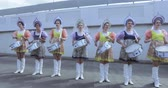 Дания : Musicians before the match kokoshnik