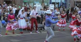 festividades : Dancing number in the style of Hipsters Stock Footage