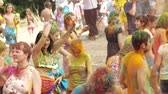 Holi Kleuren Festival Stockvideo