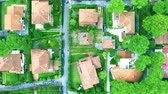cartography : Aerial shot typical buildings and landscape for a modern suburban area in Europe