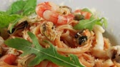 parmesão : Pasta with shrimps, mussels, squid and parmesan cheese