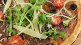 сердечный : Pizza with grilled veal meat, parmesan cheese and cherry tomatoes