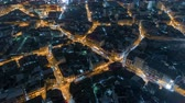 patron abstracto : aerial view traffic road in bangkok city at night, Time lapse top road in thailand.