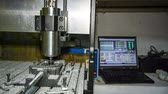 lakatosmunka : RAW format: workshop - metal lathe with numerical control is cutting aluminium.