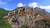 Ridge Of Famous Mountain Demerdzhi At Sunny Day in Crimea