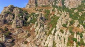 AERIAL VIEW. Rocky Formations On Slopes Of Mountain Demerdji, Crimea