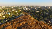 AERIAL VIEW. City Of Simferopol From Scythian Naples, Crimea Stock Footage