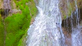 Amazing Waterfall Streams Flowing Down Stock Footage