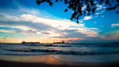 item : Panorama at the beach with beautiful views sunset