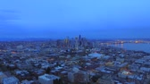 wegry : Evening city from a birds-eye view. Wideo