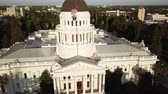 Vista del Capitolio del estado de California. Sacramento Estados Unidos Archivo de Video