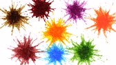 explosion of coloured liquids Stock Footage