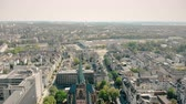 binnenstad : Aerial drone view. Germany Dusseldorf Church St. Peter. Panorama of dusseldorf