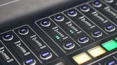 ayar : A recording studios audio console. The handles of the device are automatically moving. Stok Video