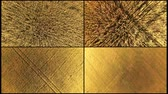 vertical growth : Collage aerial Top down view of golden wheat gently. A collage of 4 video footage of golden wheat is shot with a dron from the height. Stock Footage