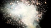 nervi : Fireworks. Small white particles of fireworks scatter in different directions. Light fireworks Filmati Stock