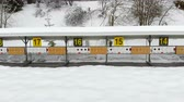 race : Biathlon. Panorama of targets for shooting during the biathlon. The numbering of the targets