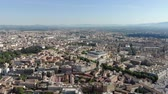 ciel : View from the height of the houses and infrastructure of Rome in Italy.