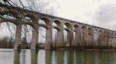 classic : Aqueduct in germany Stock Footage