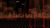Futuristic city with data. looped