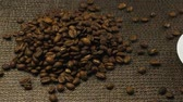 fabric : A cup of espresso, a handful of coffee beans