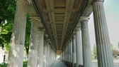 colunata : A long gallery with columns in Alte Nationalgalerieon State Museums in Berlin, Germany