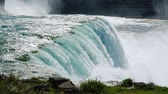 The flow of Niagara Falls water Stock Footage