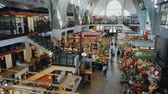 adwent : Wroclaw, Poland, May 2018: Wroclaw indoor food market. Located in the old part of the city, a popular place for buying food and flowers