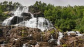 скандинавский : The stepped waterfall of the Twindorfensen is Norways highest waterfall -152m