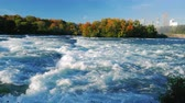 niagara : Turbulent Niagara River before the waterfall. On a clear autumn day