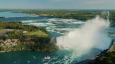 bordure : Aerial view of Niagara Falls - one of the most famous tourist places in the US and Canada.