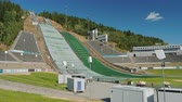 competições : Lillehammer, Norway, July 2018: Olympic springboard, where athletes competed at the Winter Olympics in 1994