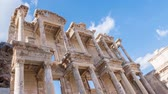 ephesus : Facade of ancient Celsius Library in Ephesus Timelapse, Turkey