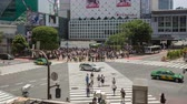 cross the road : Shibuya crossing time lapse in Tokyo Japan