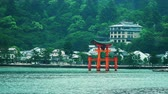 famous floating torii, shinto gate in Miyajima island, Japan
