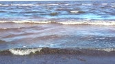 transparente : Waves on the Baltic Sea near the shore in windy weather