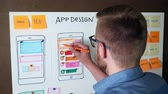 Young UX designer developing Mobile app responsive layout