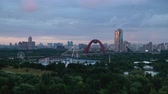 Moscow Russia City View in the Evening Time Lapse