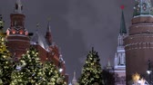 Moscow Russia City Center View on Moscow Kremlin in winter.