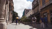 CUBA, HAVANA - OCTOBER 15, 2016: city tour, visit the main attractions of the colonial period in Cuba. The old streets, the main square, the citizens. Life through the eyes of a tourist in Havana.