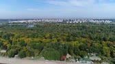serbia : Panorama of city viewed above city lake 1 Stock Footage
