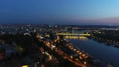 serbia : View of city from above river night 5