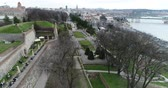 anıt : Kalemegdan park in Belgrade Stok Video