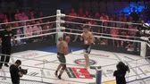 campeão : Orenburg, Russia - June 15, 2018 year: The fighters compete in mixed martial arts (M-1 Challenge 94) at the tournament The battle in the heart of the continent Stock Footage