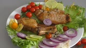 obiad : Cooked on grilled pork with fresh herbs