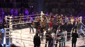 lucha libre : Orenburg, Russia - June 15, 2018 year: The fighters compete in mixed martial arts (M-1 Challenge 94) at the tournament The battle in the heart of the continent Archivo de Video