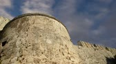 defensiva : Medieval city walls in Rhodes town, Greece  (time lapse)