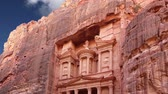 siq : Petra, Jordan, Middle East - it is a symbol of Jordan, as well as Jordans most-visited tourist attraction. Petra has been a UNESCO World Heritage Site since 1985 Stock Footage