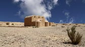 fresk : Quseir Qasr Amra desert castle near Amman, Jordan. World heritage with famous frescos. Built in 8th century by the Umayyad caliph Walid II, the castle is one of the most important examples of early Islamic art and architecture